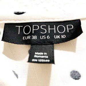 Topshop Tops - Topshop Polka Dot Ruffle Tie Bed Blouse